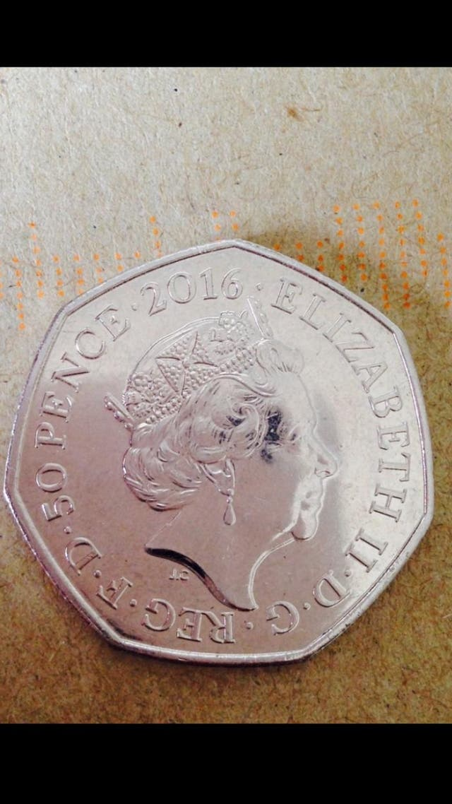 50p coin Mrs Tiggy winkle 2016.
