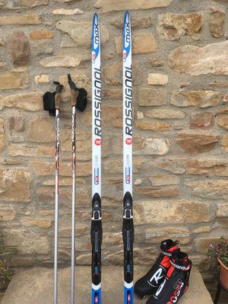 Ski de fondo Skating + botas