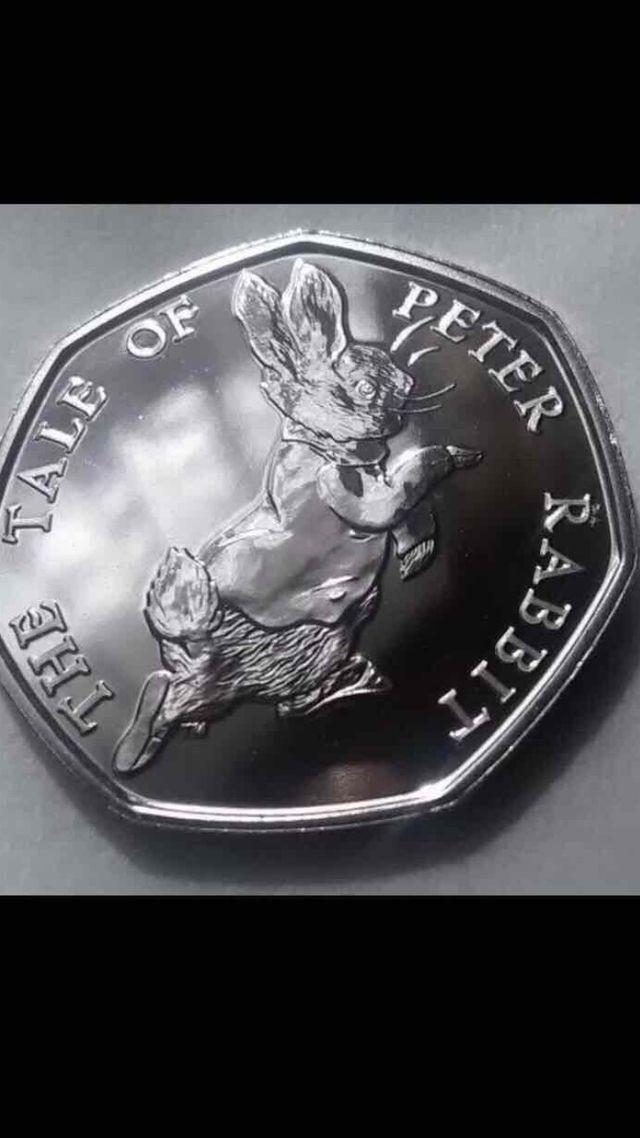 50p coin Beatrix potter - petter rabbit 2017.