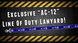 "Line of Duty inspired ""AC-22"" Printed Lanyard"