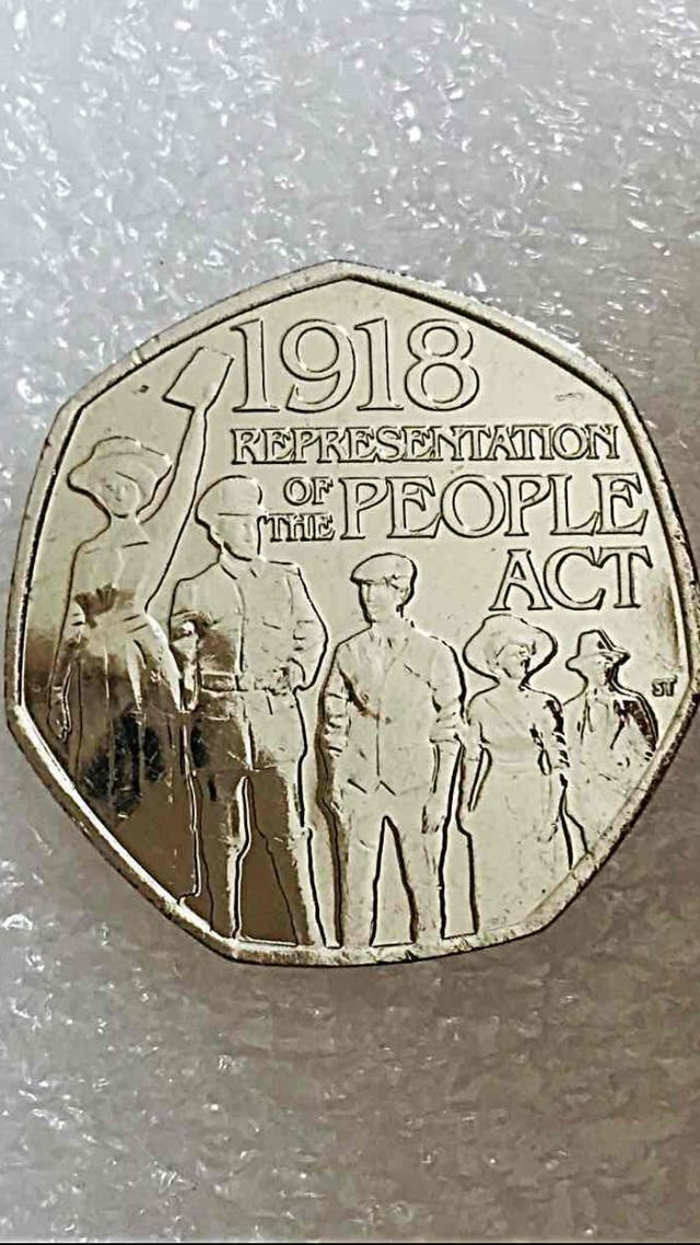 50p coin representation of the people act 2018.