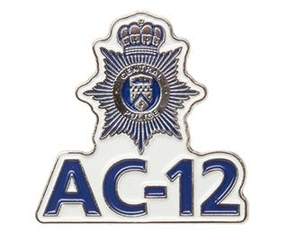 "Line of Duty inspired ""AC-12"" Metal Pin Badge"
