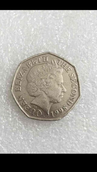 50p coin bailiwick jersey 1998.