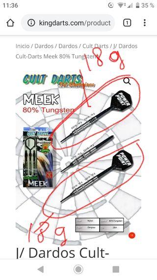 dardos cult darts Meek