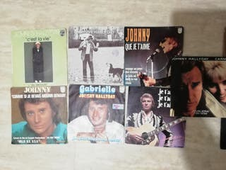 lote singles 7 Jonnhy Hallyday