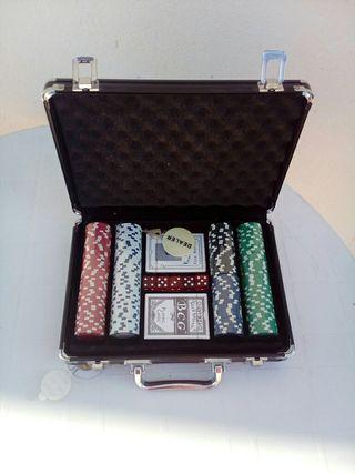 Maletín fichas y cartas poker