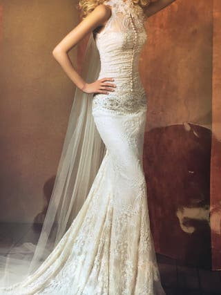 Vestido de novia estilo años 20