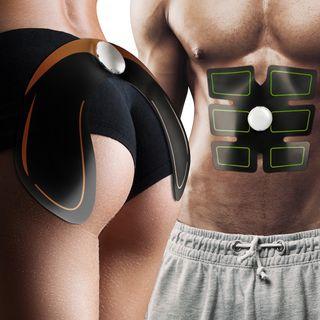 Pack Eléctroestimulador muscular glúteos y abdomen