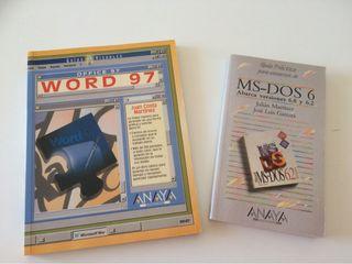 Lote libros informática años 90 - Word y MS-DOS