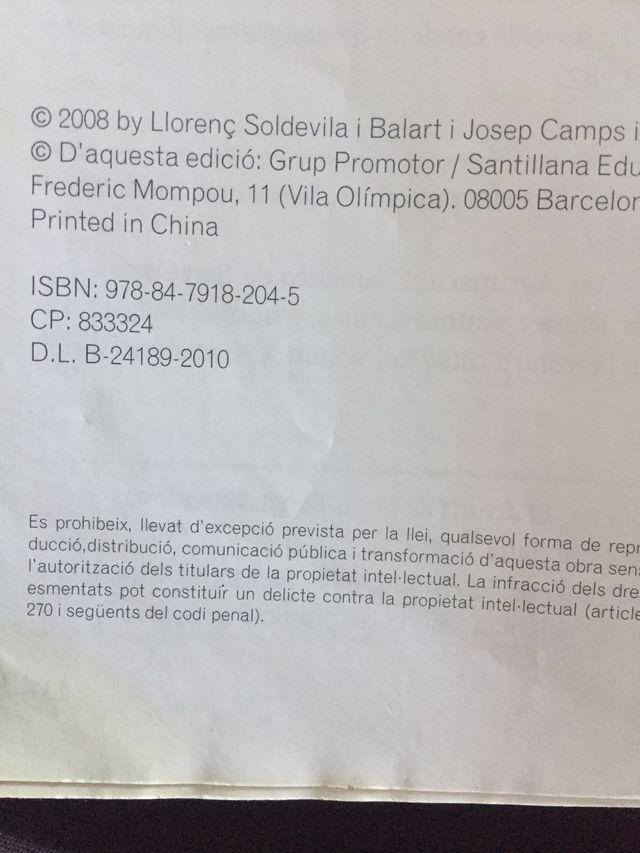Libro llengua catalana i literatura 1batxillerat