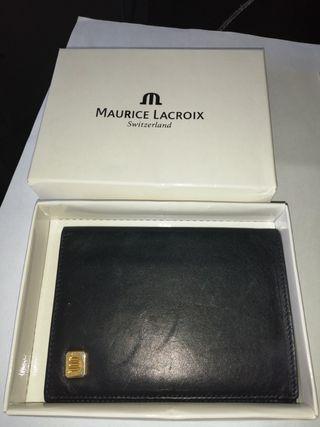 cartera piel auténtica marca Maurice Lacroix