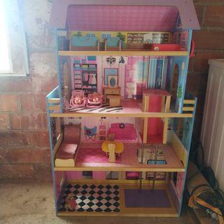 casa de muñecas 4 plantas con ascensor