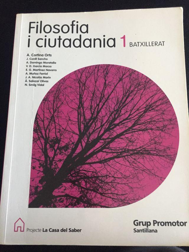 Libro de filosofía i ciutadania 1batxillerat