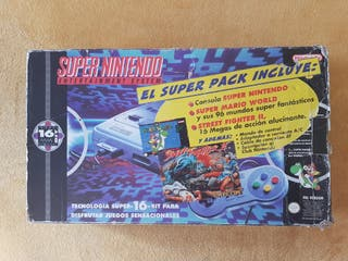 Videoconsola Super Nintendo SNES En Caja