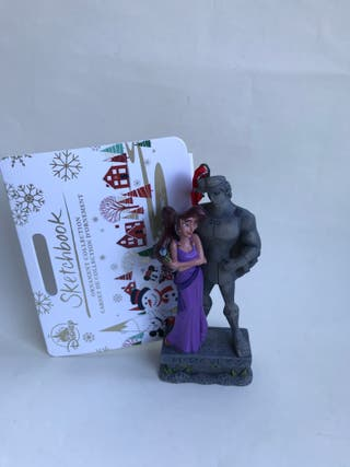 figura adorno navideño Megara Hercules Disney