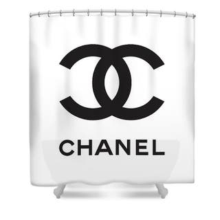 Chanel Inspired shower curtain