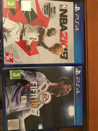 Pack NBA 2k18 y FIFA 18 PS4