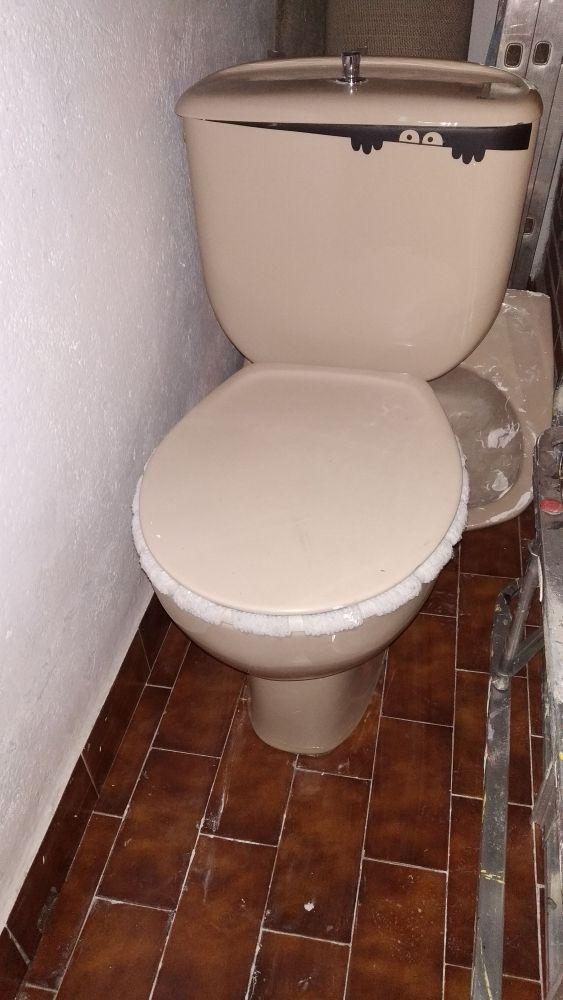 taza wc inodoro Roca color crema