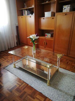 Mesa café de cristal