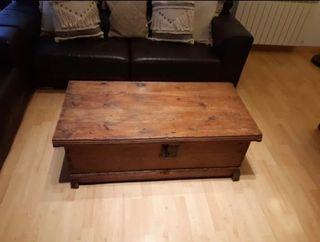 Baúl/mesa madera rustico
