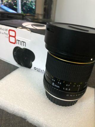 Objetivo ojo de pez MF 8mm (nuevo).