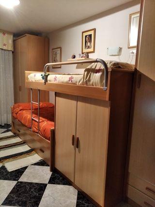 Litera de 3 camas y armario
