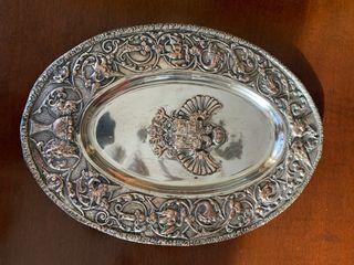 Fuente antigua chapado plata Carlos I