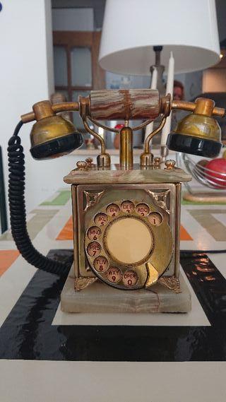 teléfono antiguo italiano gold plaquet 24kts y mes