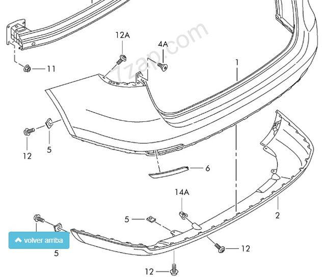 Spoiler nuevo trasero para parachoques Seat Ibiza de
