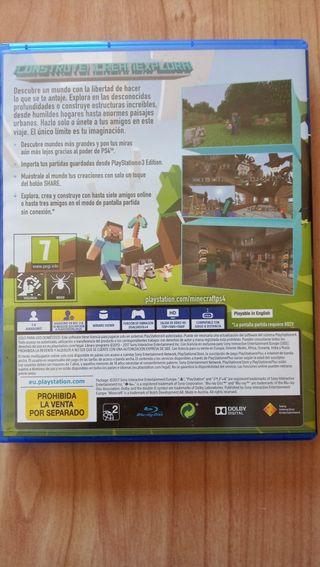 juegos Minecraft para play station 4