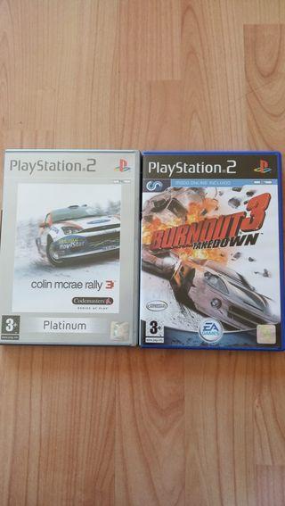 2 juegos play station 2 de Carreras de coches