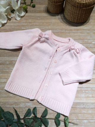 chaqueta 1/3 meses bebe rosa palo NUEVA