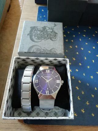 Reloj de hombre CRRJU + pulsera
