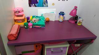 escritorio con cajonera