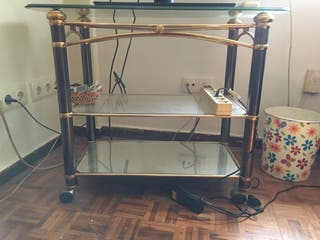 Mesa de cristal de television