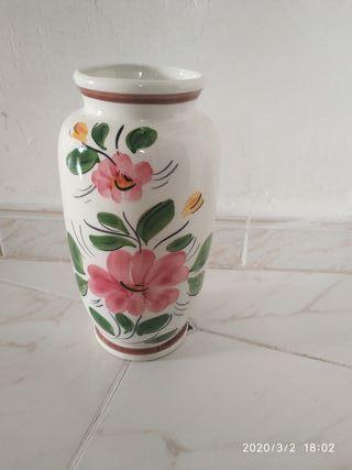 Decoración moderna jarrón jarrón mesa jarrón /'vermont/' de cerámica blanco//plata altura 22