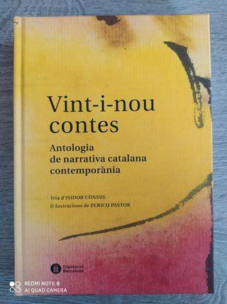 Libro Vint-i-nou contra, narrativa catalana