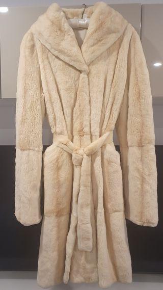 Abrigo de visón blanco