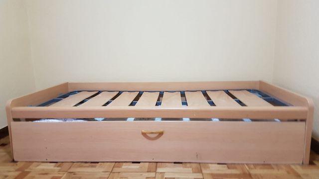Cama nido 90x190cm con dos somieres y dos colchone