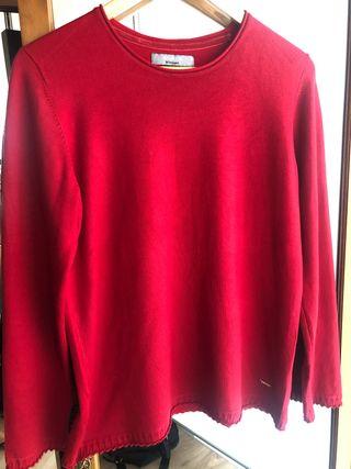 Jersey rojo marca El Corte Inglés