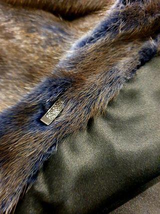 Abrigo de visón azul