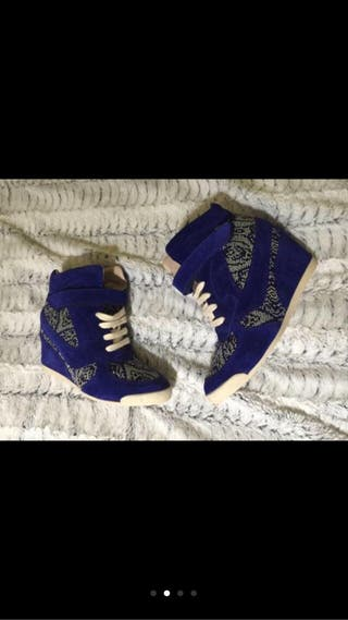 Snakers, zapatillas con cuña Zara Woman, talla 39