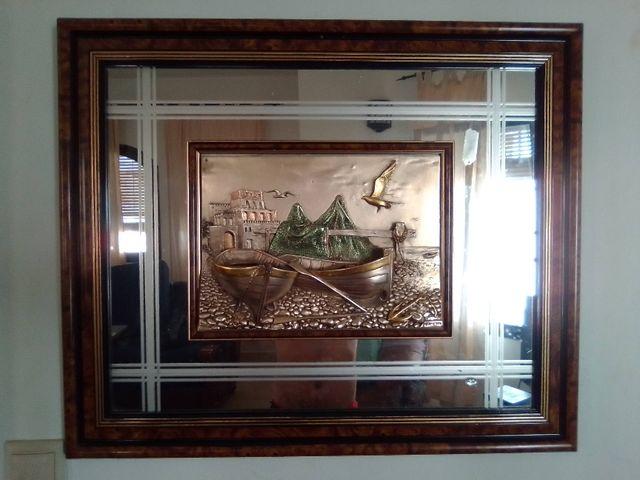 cuadro en relieve antiguo, obra de arte