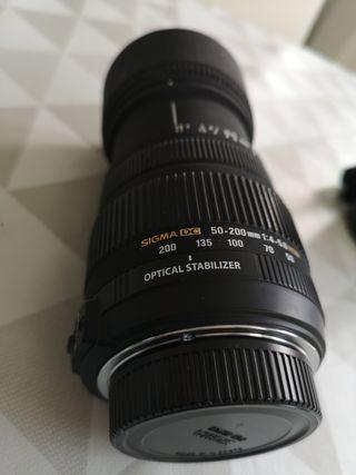 Objetivo Sigma DC 50-200mm 1:4 5.6 HSM para Nikon