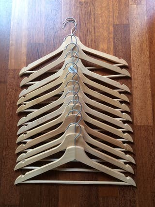 12 perchas madera