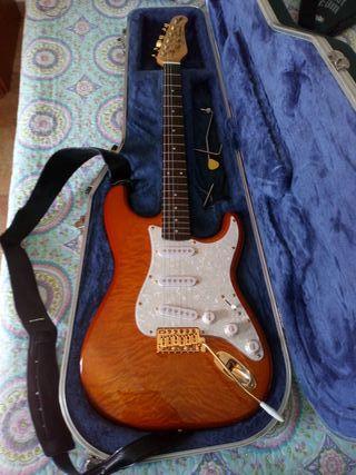guitarra eléctrica con muerto
