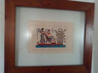 pareja de cuadros de papel de bapiro original