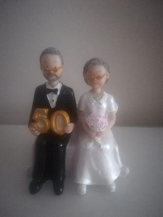 Figura para tarta bodas oro