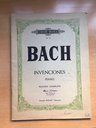 Libro Antiguo Piano Bach