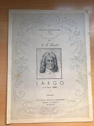 Partitura Antigua para Piano